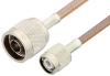 N Male to TNC Male Cable 24 Inch Length Using RG400 Coax -- PE3666-24 -- View Larger Image