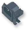 FUSED IEC POWER CONNECTOR, PLUG, 10 A -- 06WX9498