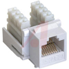 Jack, Keystone; White; For CAT 5E cable -- 70121749