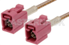 Violet FAKRA Jack to FAKRA Jack Cable 12 Inch Length Using RG316 Coax -- PE38754H-12 -Image