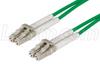 50/125, OM4 Multimode Fiber Cable, Dual LC / Dual LC, 10m -- FODLC-OM4-10 -Image