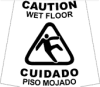 "Sign Sleeve: ""CAUTION: WET FLOOR"" -- AW03F - Image"