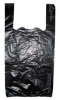 Black T-Shirt Bag - 12 x 7 x 22 -- 3NHDT1222BLK