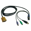 KVM Switches (Keyboard Video Mouse) - Cables -- P778-015-ND - Image