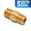 Connector Air Fitting: male, brass, for 1/8in NPT to 1/8in NPT, 5/pk -- BFMC-18N