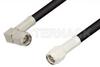 SMA Male to SMA Male Right Angle Cable 12 Inch Length Using RG223 Coax, RoHS -- PE3429LF-12 -Image