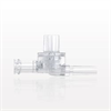 Dual Check Valve, Tubing Port Inlet, Male Luer Slip Outlet, Female Luer Lock Control Port -- 79001 -Image