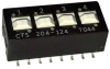 DIP Switches -- 204-124S-ND - Image