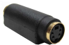S-Video 4-Pin Mini DIN Female to Female Adapter Gold Plated -- 251-410 - Image