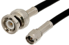 SMA Male to BNC Male Cable 48 Inch Length Using 53 Ohm RG55 Coax -- PE3479-48 -Image