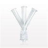 4-Way Connector, 3 Female Luer Locks to 1 Male Luer with Spin Lock -- 65925 - Image