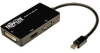6 Inch Mini Displayport to VGA / DVI / HDMI All-in-One Adapter / Converter -- P137-06N-HDV