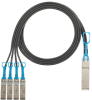 Direct Attach Copper Cable Assemblies : QSFP+ to SFP+ Hydra Cable Assemblies -- PHQ4SFPXA1.5MBL