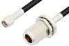 SMA Male to N Female Bulkhead Cable 36 Inch Length Using RG58 Coax, RoHS -- PE3013LF-36 -Image