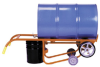 Dispensing Mobile Drum Truck with Polyolefin Wheels -- DRM318