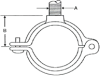 722 Series Copper Hinged Split Ring Hanger -- 722 - 303