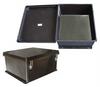 "18x16x8"" UL® Listed Black Weatherproof NEMA 4X Rated Enclosure w/Blank Aluminum Mounting Plate -- NBB181608-KIT -- View Larger Image"