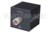 Medium Power 50 Watts RF Load Up To 18 GHz With N Male Input Square Body Black Anodized Aluminum Heatsink -- PE6213 -- View Larger Image