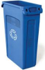 Rubbermaid Slim Jim® 23-Gallon Rectangular Waste Container with Venting Channels - Recycling - 3540-07 (Blue) -- RM-3540-07BLU