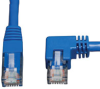Cat6 Gigabit Molded Patch Cable (RJ45 Right Angle M to RJ45 M) Blue, 3-ft. -- N204-003-BL-RA