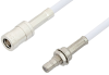 SMB Plug to SMB Jack Bulkhead Cable 48 Inch Length Using RG188-DS Coax, RoHS -- PE34489LF-48 -Image