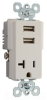 Combination Switch/Receptacle -- TR5361USB-W -- View Larger Image
