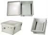 18x16x8 Inch Weatherproof NEMA 4X Windowed Enclosure-DIN Mounting Rails -- NBW181608-000DR -Image