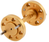WR-5 45 Degree Left-hand Waveguide Twist with a UG-387/U-Mod Flange Operating from 140 GHz to 220 GHz -- PEW5TW0001 -Image