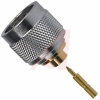 connector,rf coaxial,n straight solder plug,for 0.250 semi-rigid cable,50 ohm -- 70031775