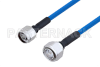 Plenum N Male to 4.3-10 Male Low PIM Cable 36 Inch Length Using SPP-250-LLPL Coax , LF Solder -- PE3C4141-36 -Image
