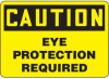 Caution Eye Protection Required Sign -- SGN573