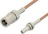 SMB Plug to SMB Jack Bulkhead Cable 12 Inch Length Using RG178 Coax, RoHS -- PE33676LF-12 -Image