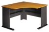 Desk, 47-1/4w x 47-1/4d x 29-7/8h, Natural Cherry/Slate Gray -- BSHWC57466