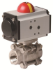 Pneumatically Actuated Stainless Steel Ball Valve -- PVS - AP Series -Image