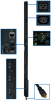 3-Phase Monitored PDU, 8.6 KW, 36 208V Outlets (30 C13, 6 C19), 10-ft. NEMA L21-30P 30A Input, 0U Vertical Mount -- PDU3VN10L2130
