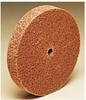 3M Scotch-Brite CM-WL Convolute Aluminum Oxide Medium Deburring Wheel - Medium Grade - Arbor Attachment - 8 in Diameter - 3 in Center Hole - Thickness 12 in - 93025 -- 048011-93025 - Image