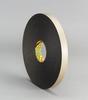 3M(TM) Double Coated Polyethylene Foam Tape 4496 Black, 1/2 in x 36 yd 1/16 in, 18 per case Bulk -- 021200-30425