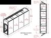 4-Unit Tunnel Standard Profile Single Door Air Showers -- CAP701KD-ST4-49288