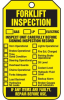 Forklift Inspection Safety Tags -- LCK284
