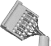 Backplane Connectors, 2.54 mm (0.100 in.), DIN 41612 Standard, Cable Connectors, Number of contacts (Total)=14 -- BPS8B21ACD000Z0LF - Image