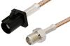 SMA Female to Black FAKRA Plug Cable 60 Inch Length Using RG316 Coax -- PE39346A-60 -Image