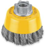 Knotted Cup Brush,3 In -- 1VK72