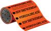 Brady B-946 Black on Orange Vinyl Self-Adhesive Pipe Marker - 8 in Height - 30 ft Length - Printed Msg = HYDROCHLORIC ACID with Left Arrow - 109308 -- 754473-67540