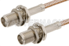 SMA Female Bulkhead to SMA Female Bulkhead Cable 24 Inch Length Using RG316 Coax -- PE33158-24 -Image