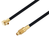 MMCX Plug Right Angle to MMCX Plug Cable 50 cm Length Using PE-SR405FLJ Coax -- PE3W05483-50CM -Image
