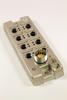 M12 8 port Die Cast Passive Distribution Box with LED -- 900-5M -Image