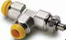 Prestolok Metal Fittings -- R68PB Adjustable Male Run Tee Metric Straight Thread