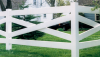 Vinyl Fence - Post & Rail -- Crossbuck