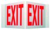 Brady Acrylic Rectangle White Exit Sign - 15 in Width x 8 in Height - TEXT: EXIT - V2EX01A -- 754476-49400 - Image