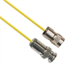 TRS Plug 3-Slot Male to TRB Plug 3-Slot Male 75 Ohm Triaxial cable Yellow jacket 0.189